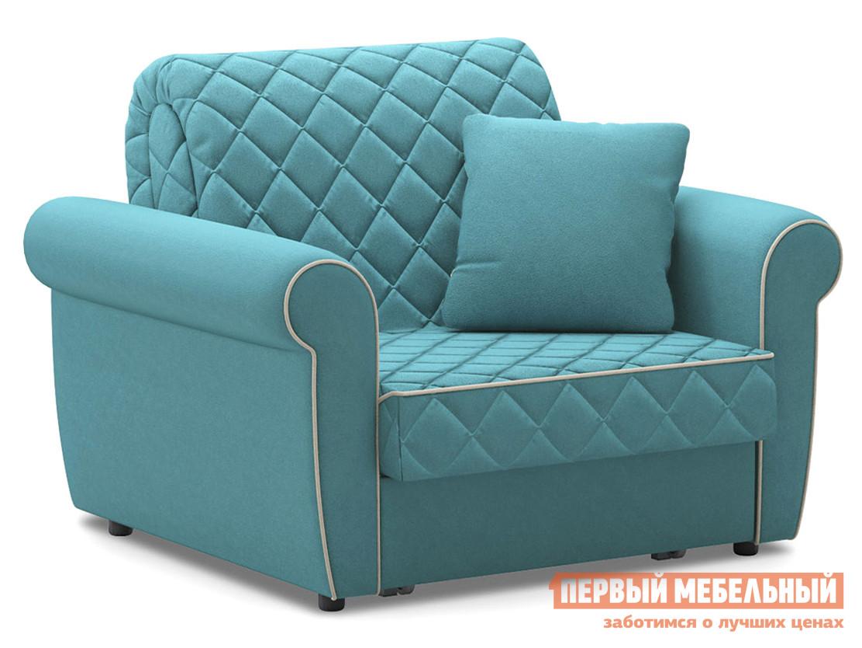 Кресло  Кресло-кровать Денвиль / НПБ Бирюзовый, велюр , Независимый пружинный блок, новый Живые диваны 125223