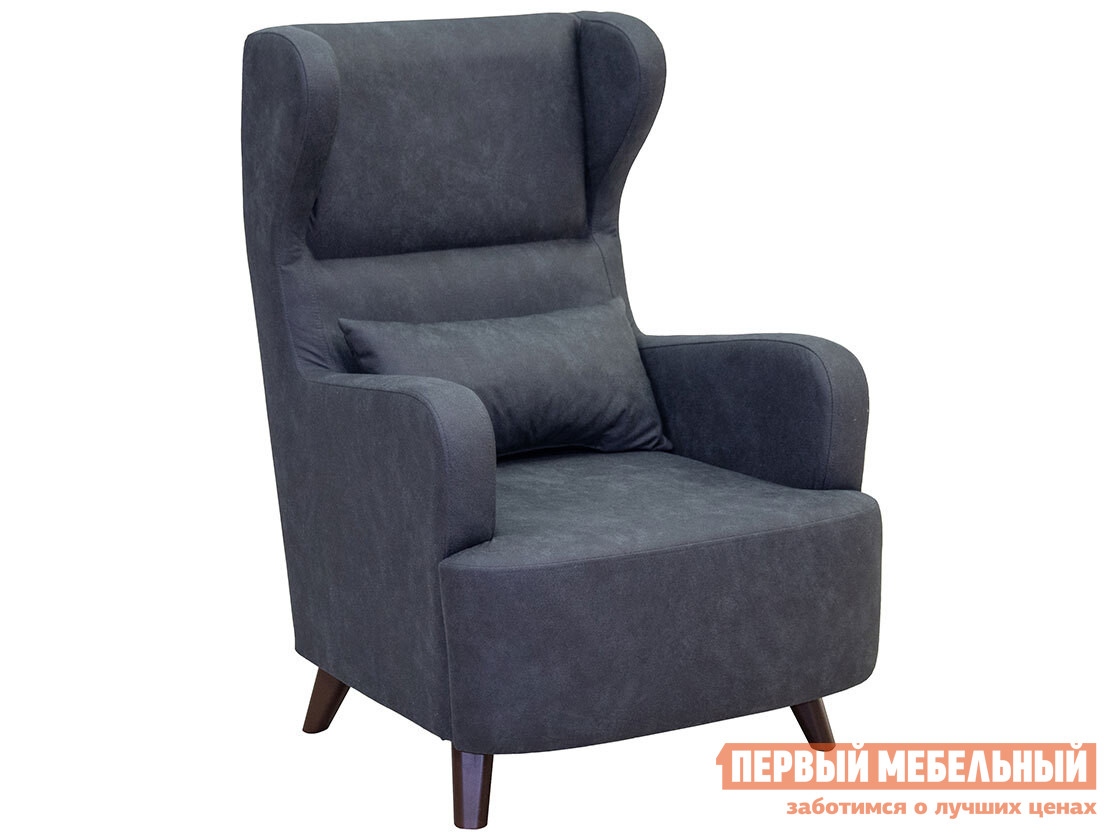 Кресло  Меланж Синий, искусственная замша НижегородмебельИК 105391