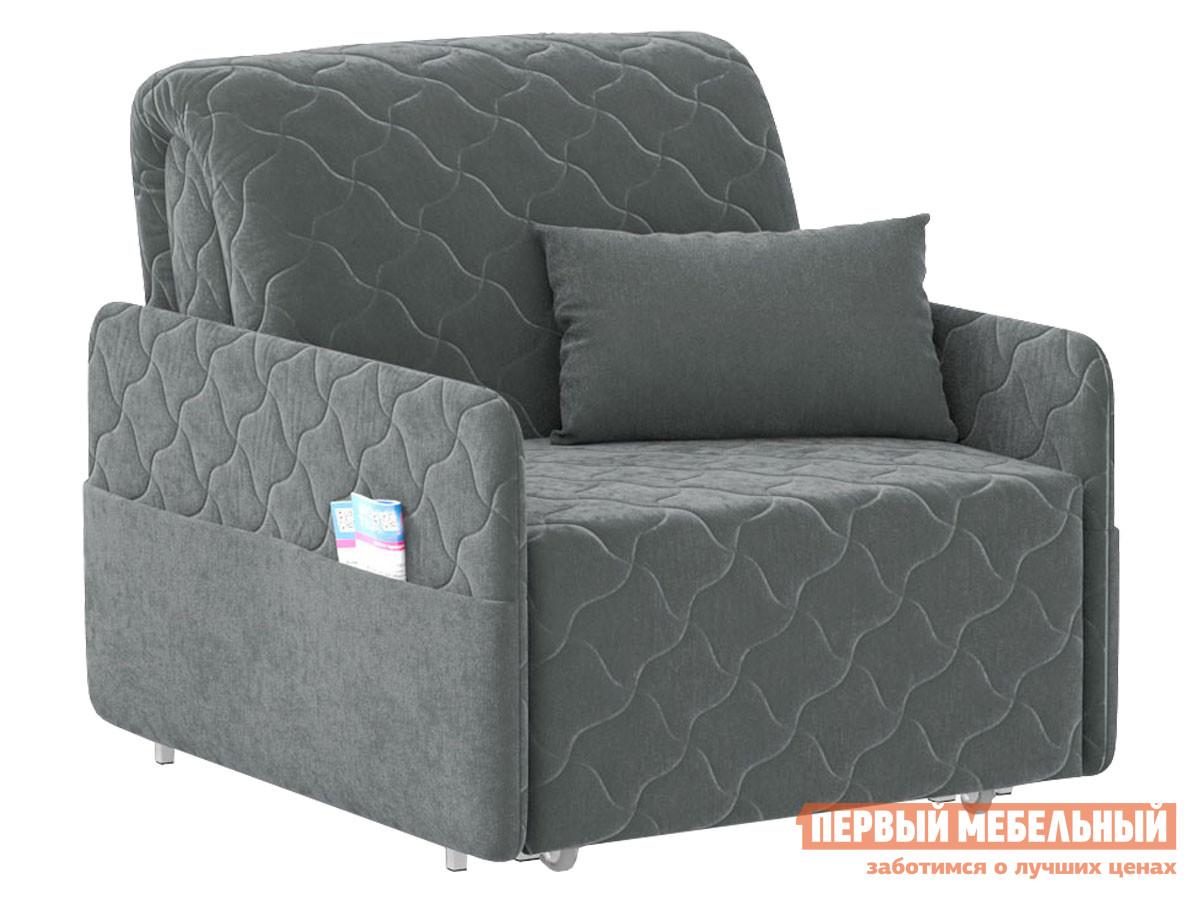 Кресло  Кресло-кровать Тино / Люкс Серый, велюр, Независимый пружинный блок Живые диваны 119199