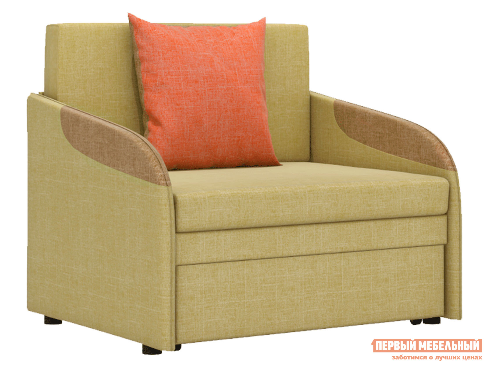 Кресло  Кресло-кровать Громит Горчичный, велюр — Кресло-кровать Громит Горчичный, велюр