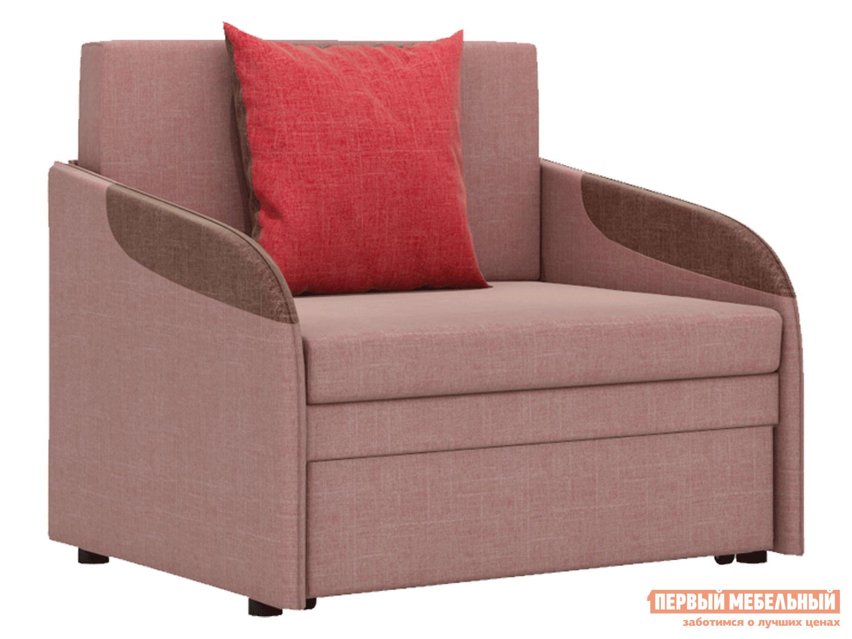 Кресло  Кресло-кровать Громит Серо-розовый, велюр — Кресло-кровать Громит Серо-розовый, велюр