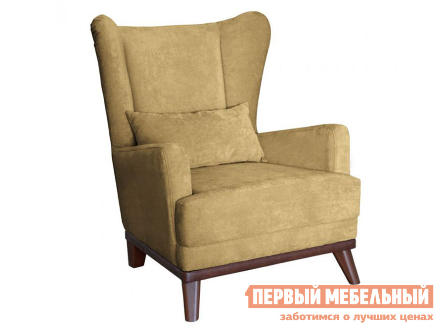 Кресло  Оскар Песочный, велюр — Оскар Песочный, велюр