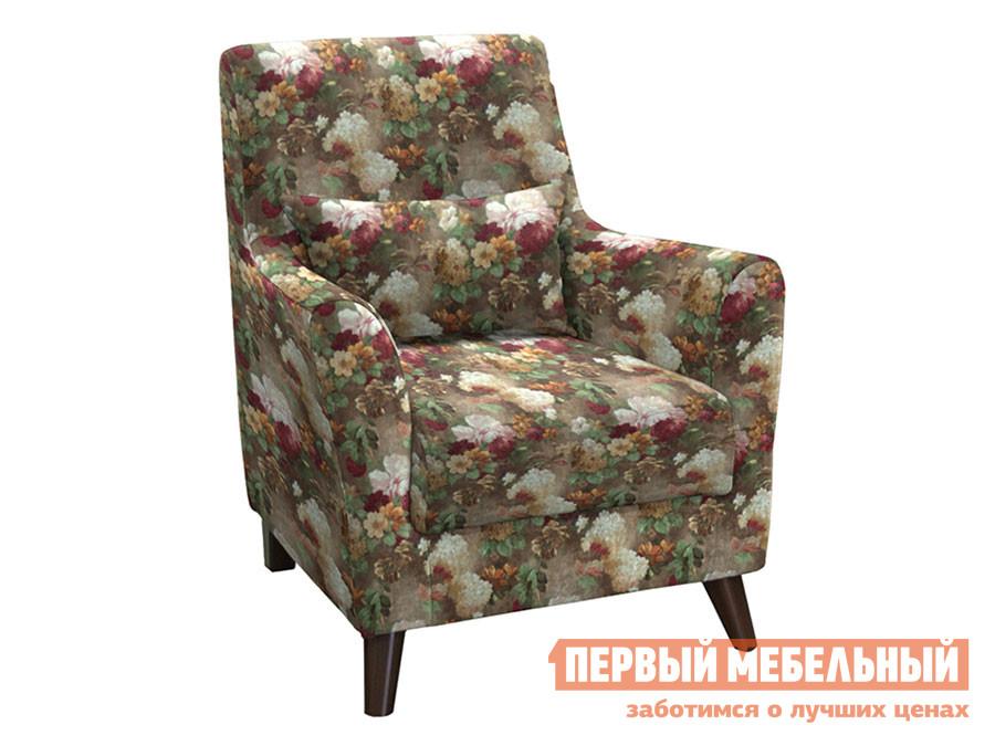 Кресло  Либерти Яркие цветы, велюр НижегородмебельИК 66170