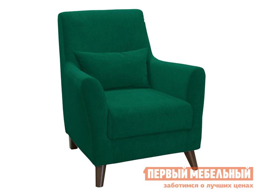 Кресло  Либерти Темно-зеленый, велюр НижегородмебельИК 75116