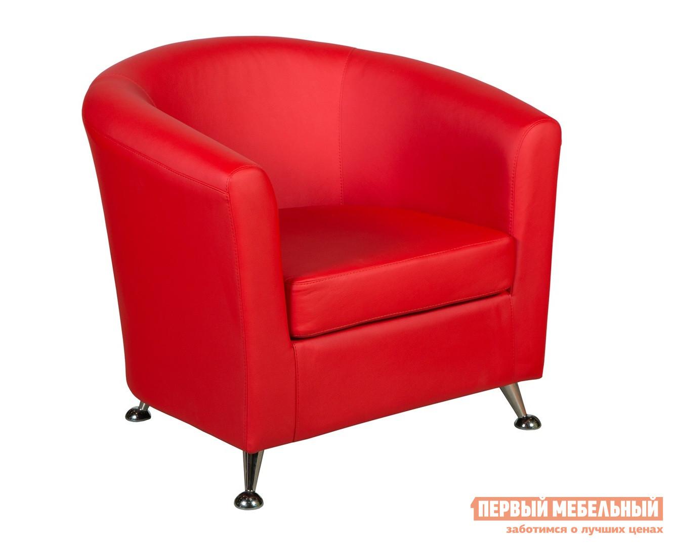 Кресло ПМ: СМК Марта Красный, экокожа