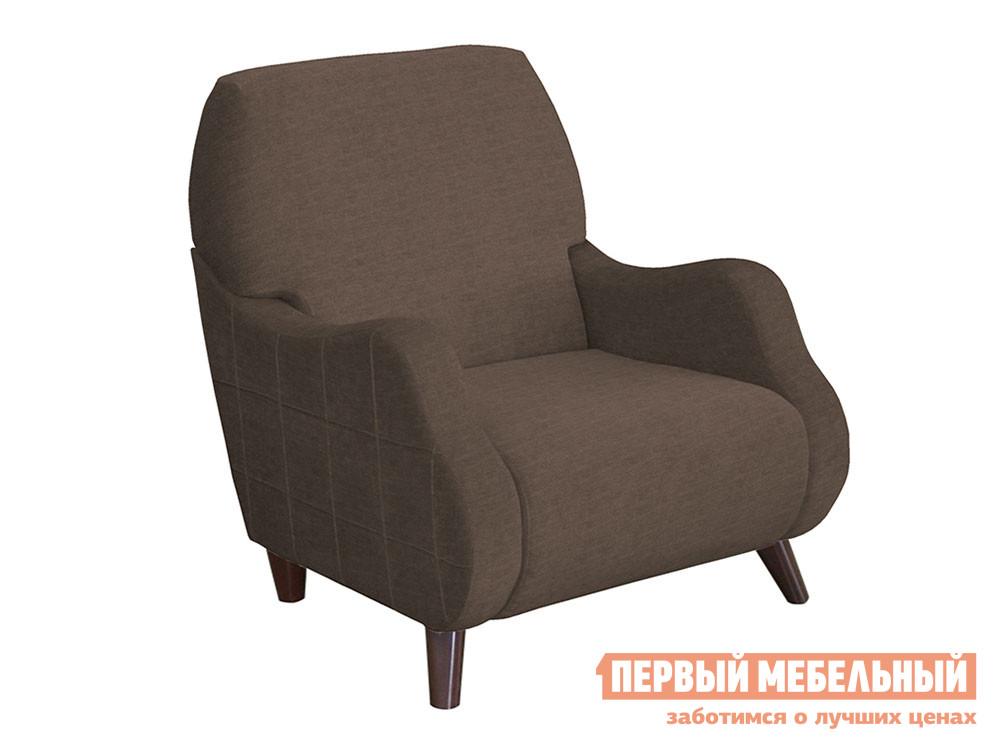 Кресло  Робби Коричневый, велюр