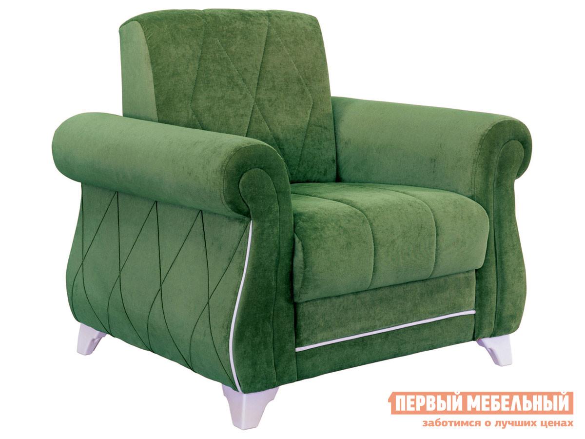 Кресло Роуз Зеленый нефритовый, микровельвет фото