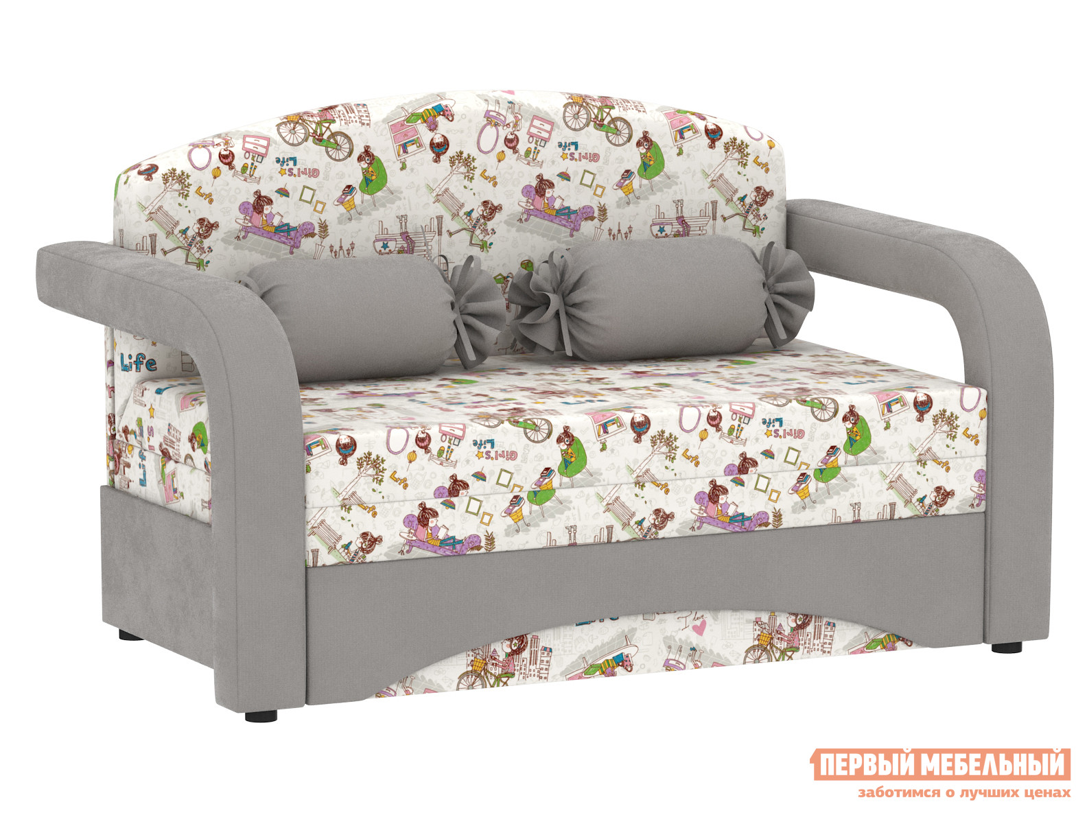 Прямой диван Первый Мебельный Диван Антошка