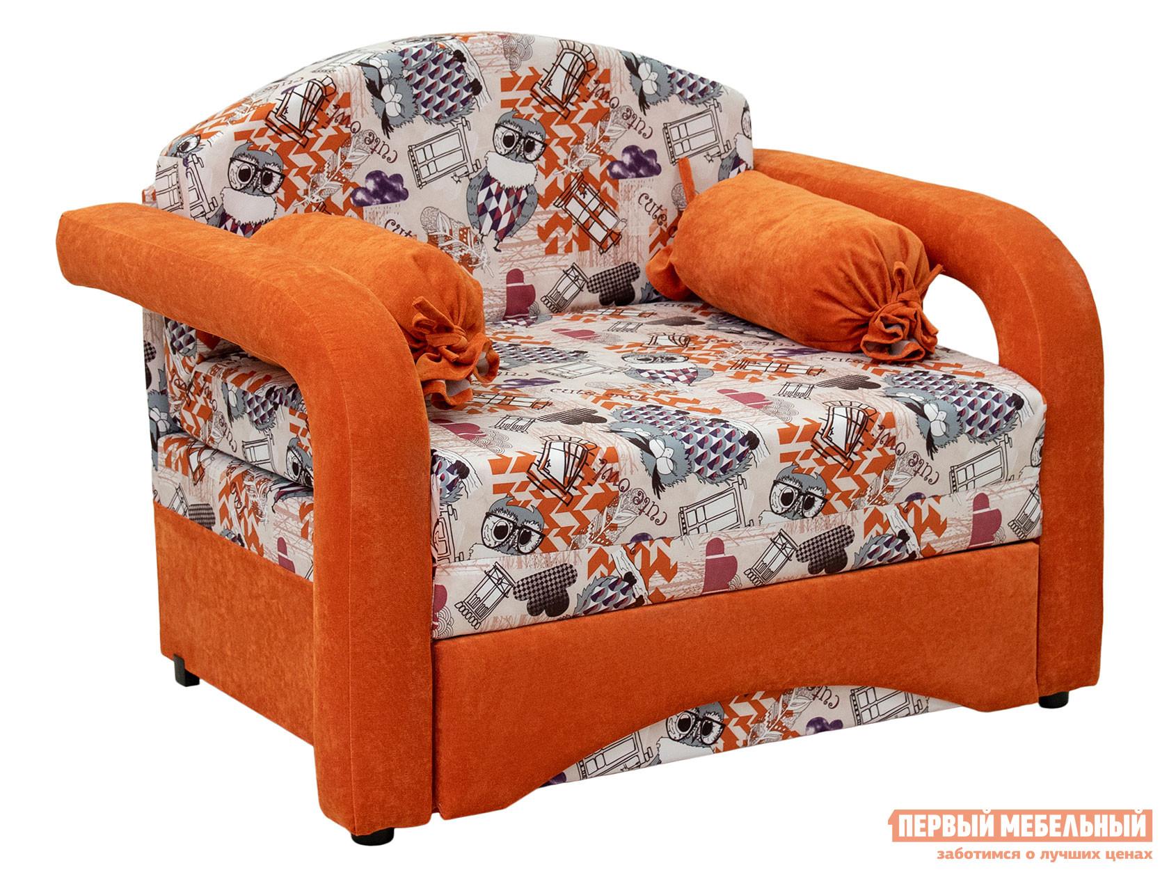 Кресло  Кресло-кровать Антошка Филин, жаккард / микровелюр — Кресло-кровать Антошка Филин, жаккард / микровелюр