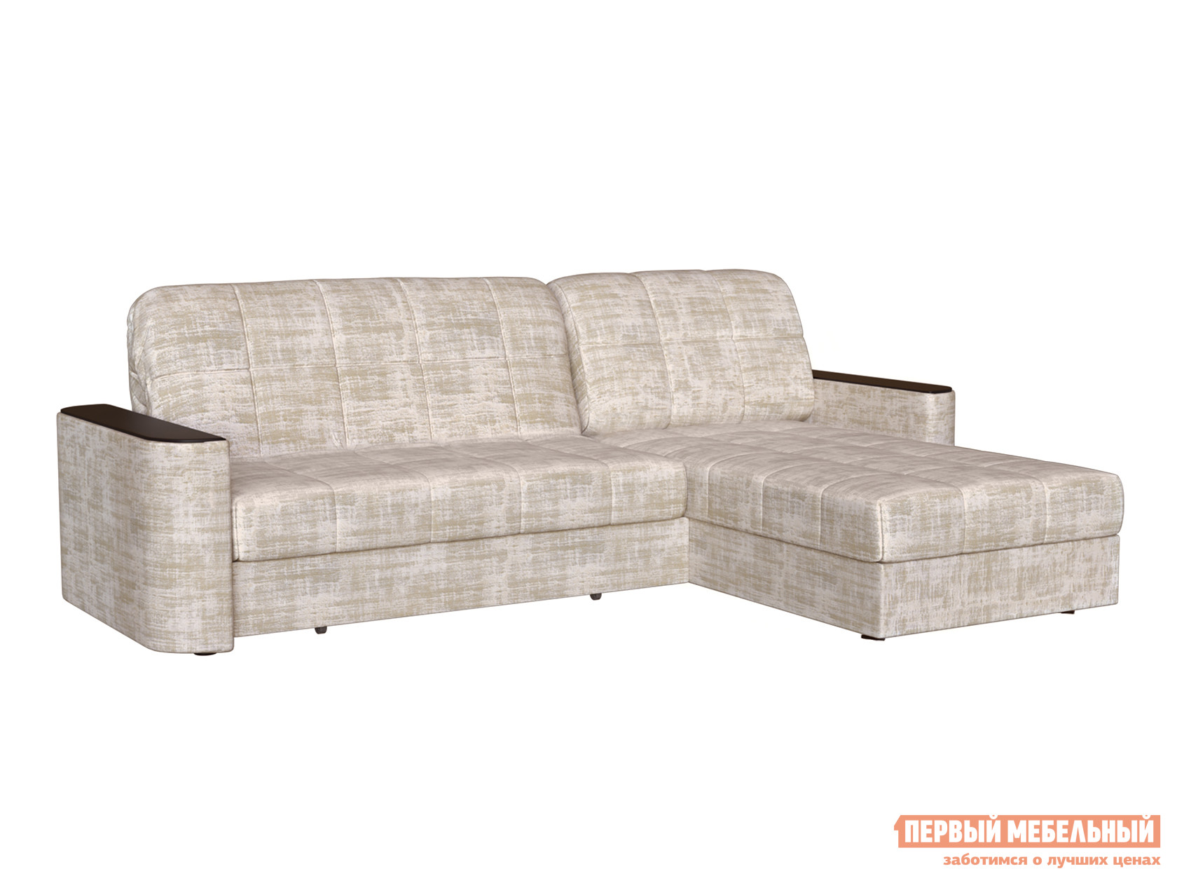 Угловой диван Первый Мебельный Диван Лукас с оттоманкой Люкс