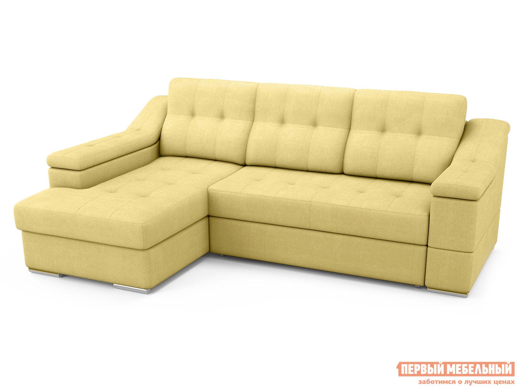 Угловой диван  Угловой диван Калифорния Песочный, рогожка, Левый