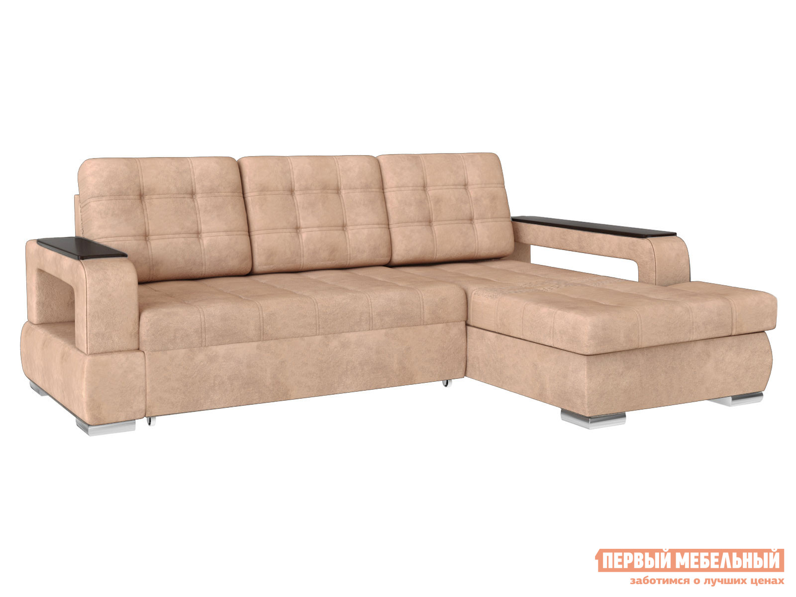 Угловой диван Виктория Люкс Угловой Oxford 200, иск. замша, Правый фото