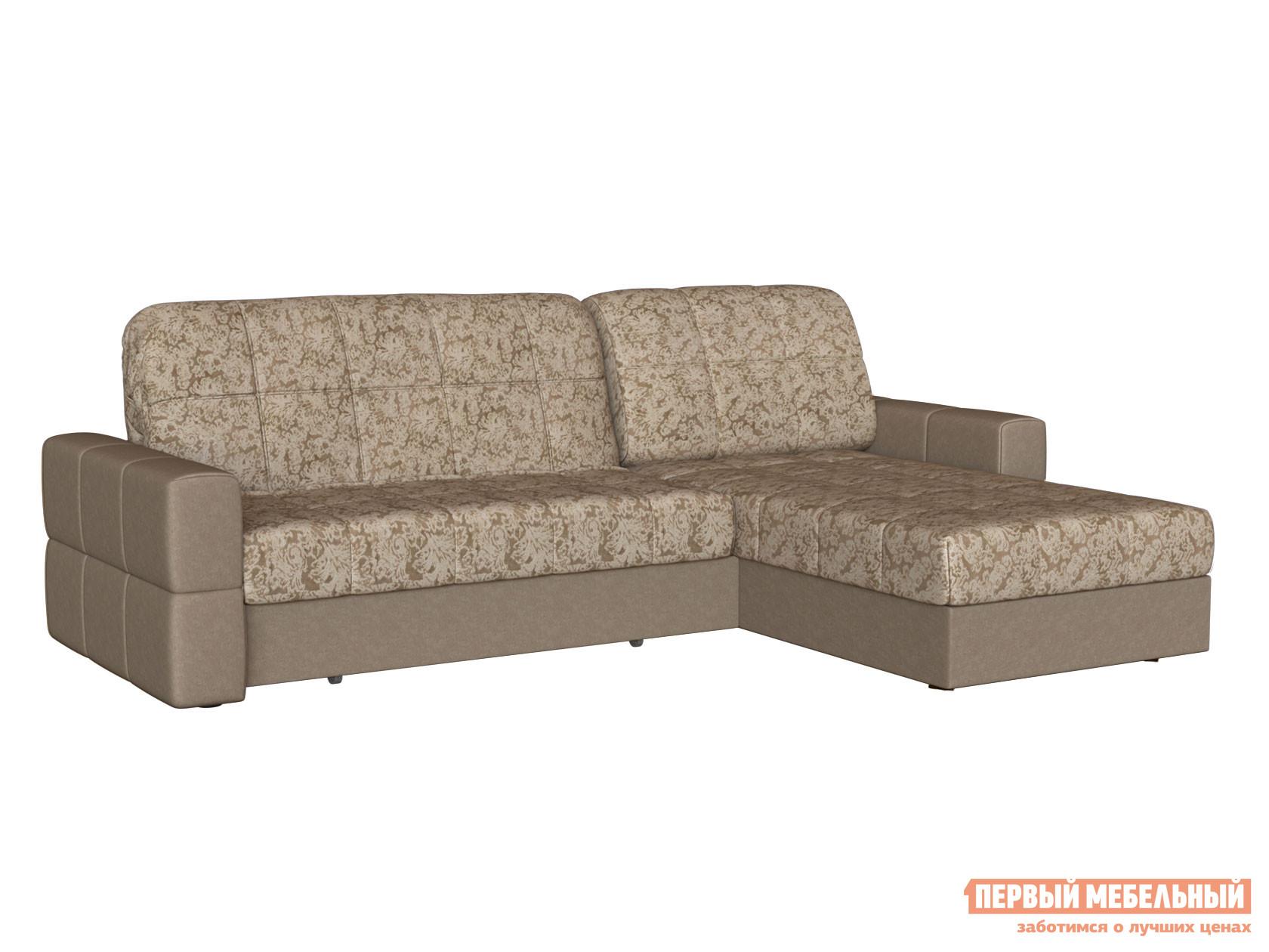 Угловой диван Первый Мебельный Диван Марио с оттоманкой