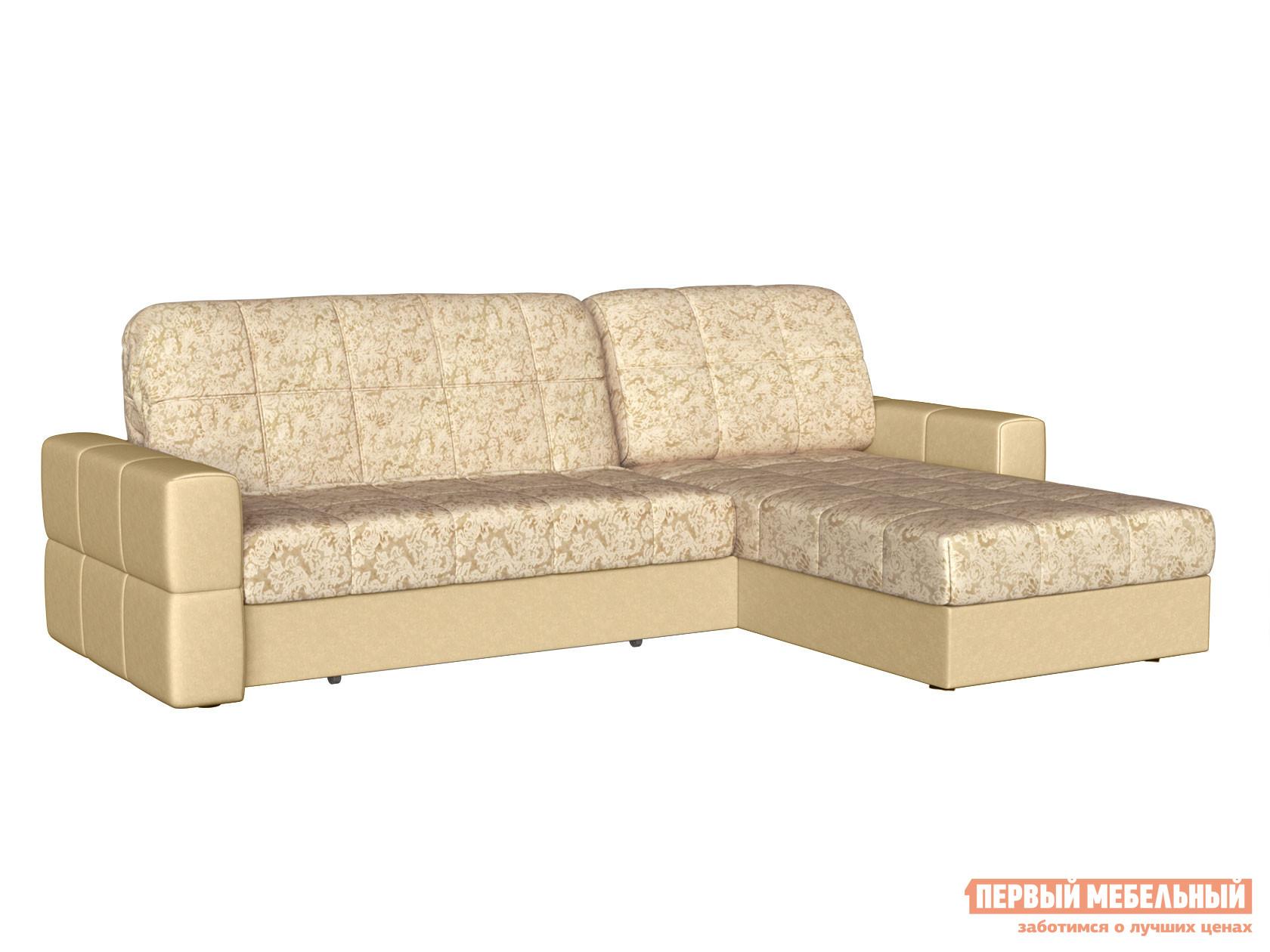Угловой диван Первый Мебельный Диван Марио с оттоманкой Люкс