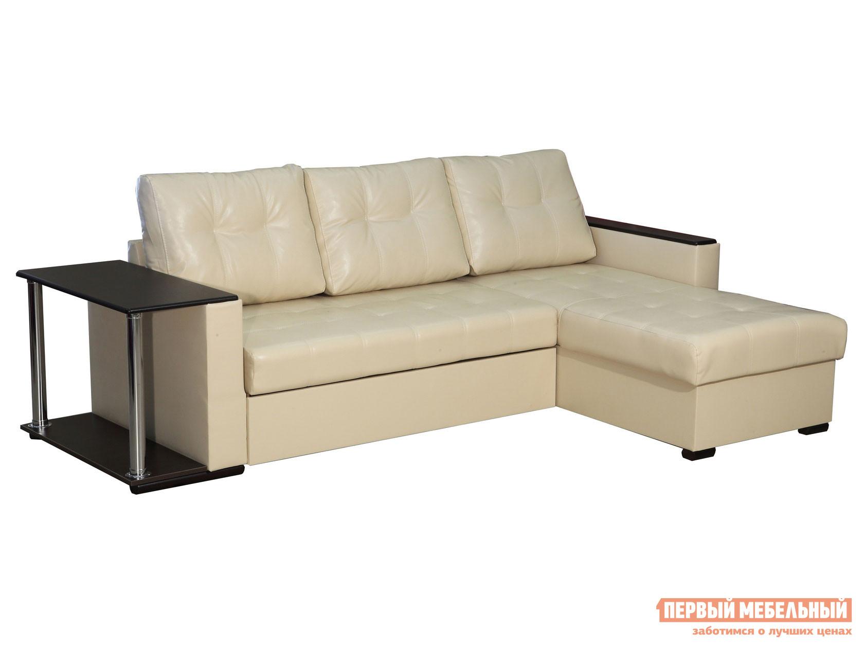 Угловой диван Первый Мебельный Диван Атташе угловой со столиком