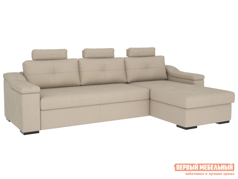 Угловой диван Первый Мебельный Триумф с оттоманкой