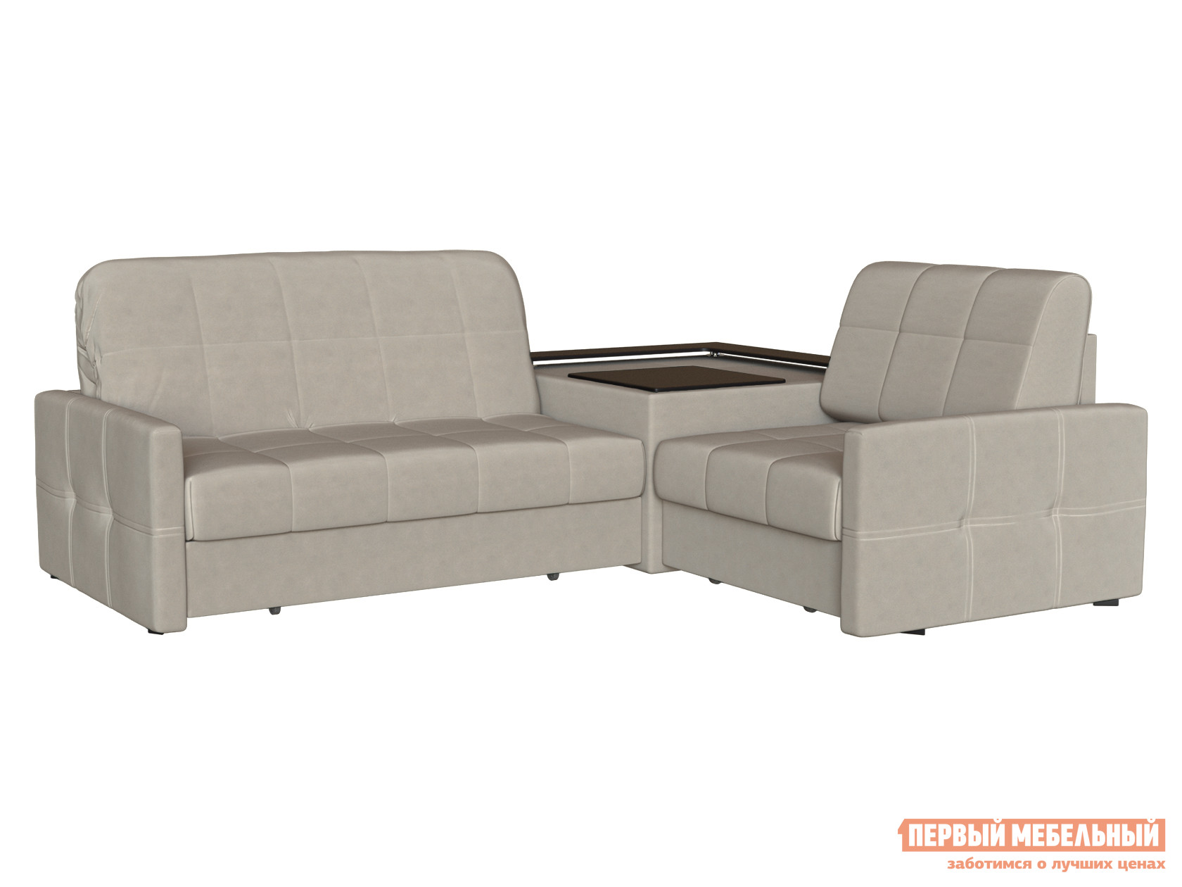 Угловой диван Первый Мебельный Диван Неро угловой Люкс
