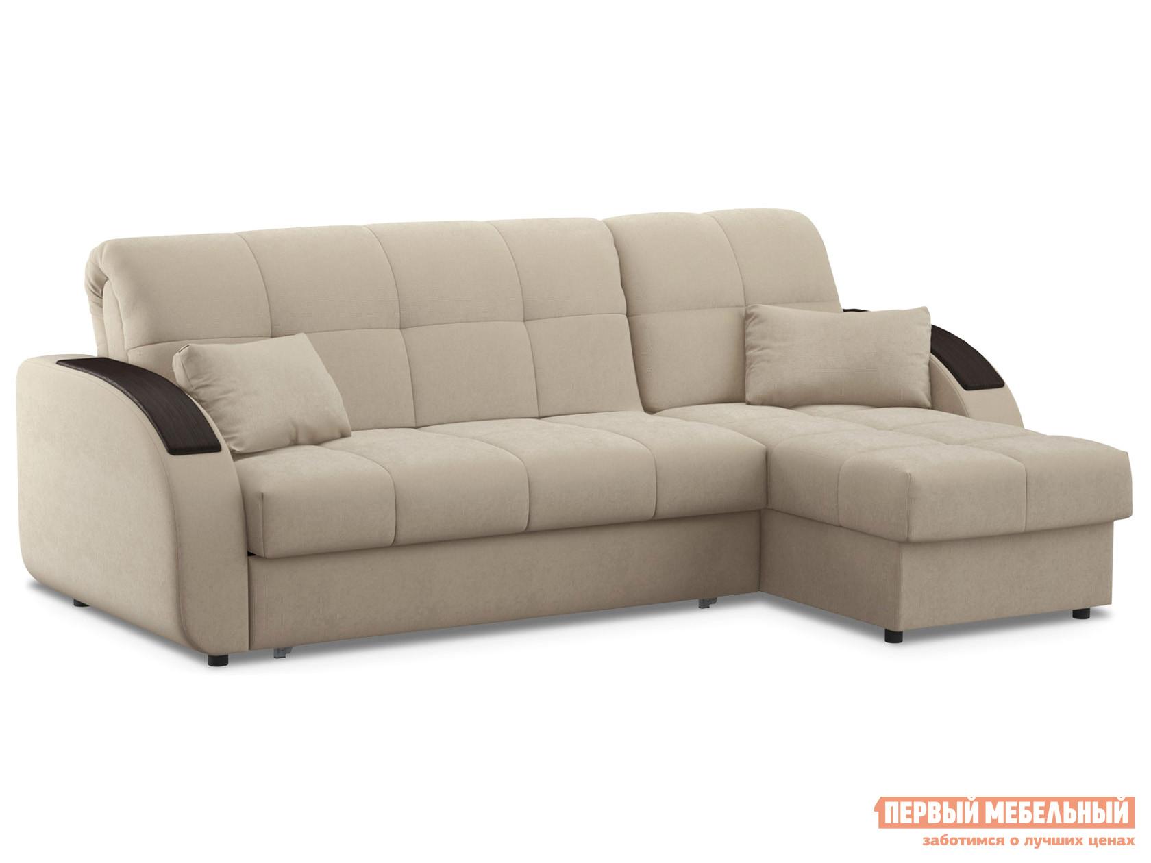 Угловой диван Первый Мебельный Диван Уильям Люкс с оттоманкой
