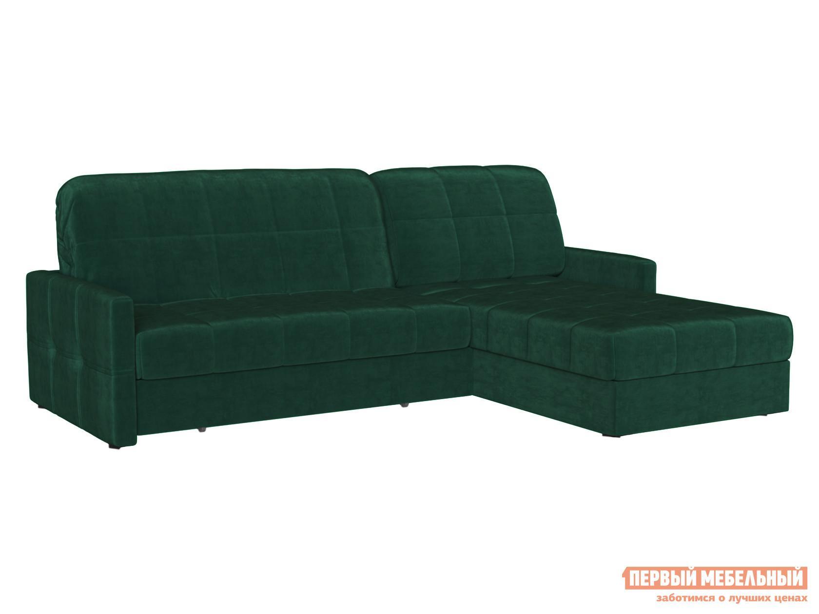 Угловой диван Первый Мебельный Диван Неро с оттоманкой Люкс