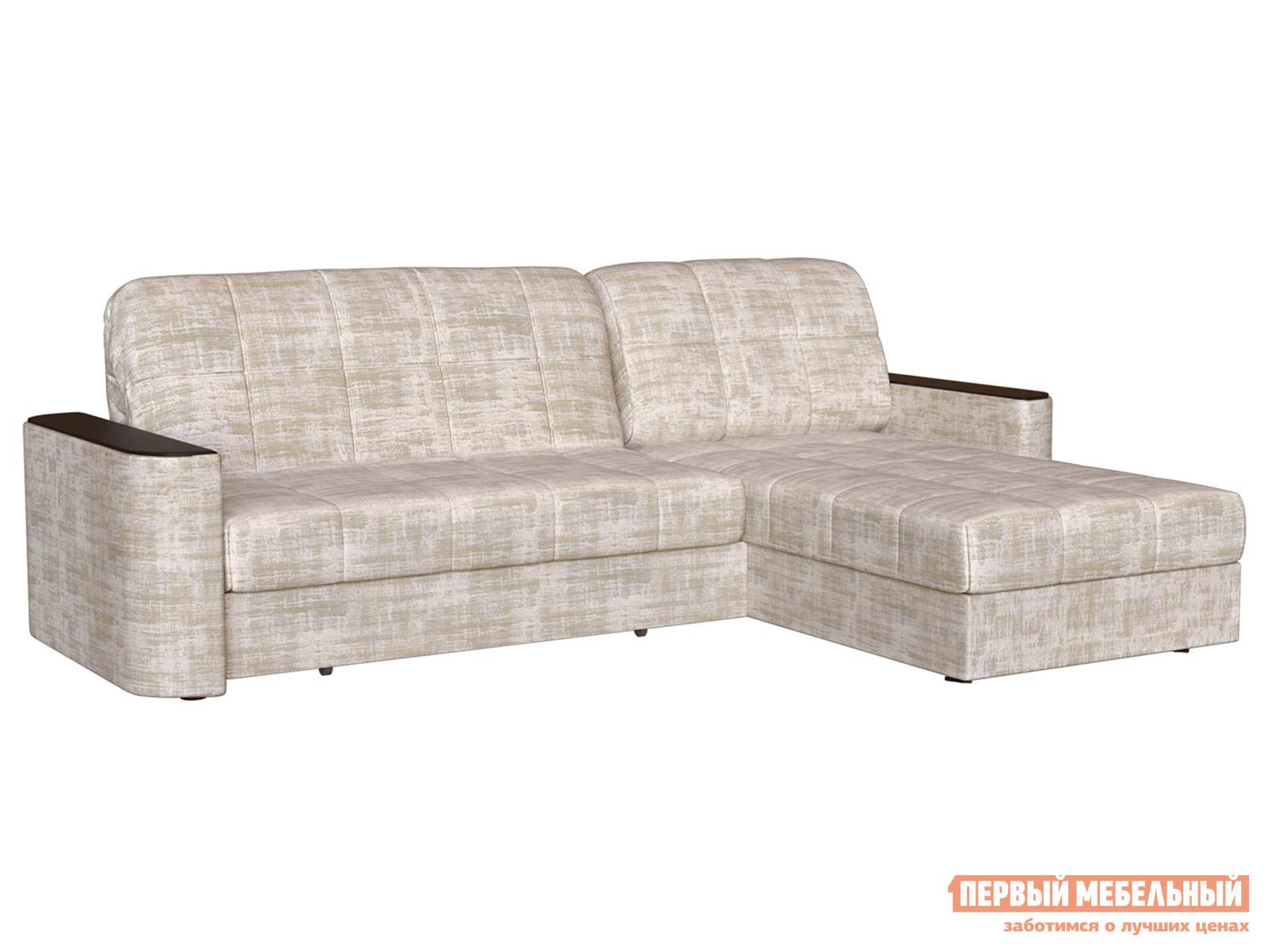 Угловой диван Первый Мебельный Диван Лукас с оттоманкой