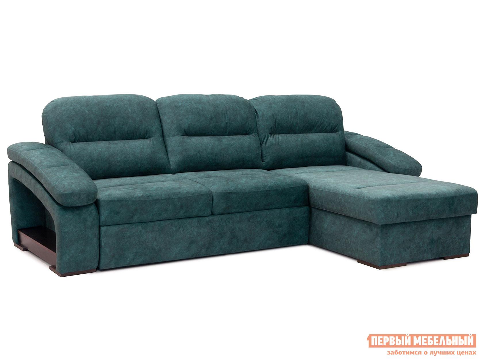 Угловой диван с оттоманкой Первый Мебельный Диван Рокси с оттоманкой
