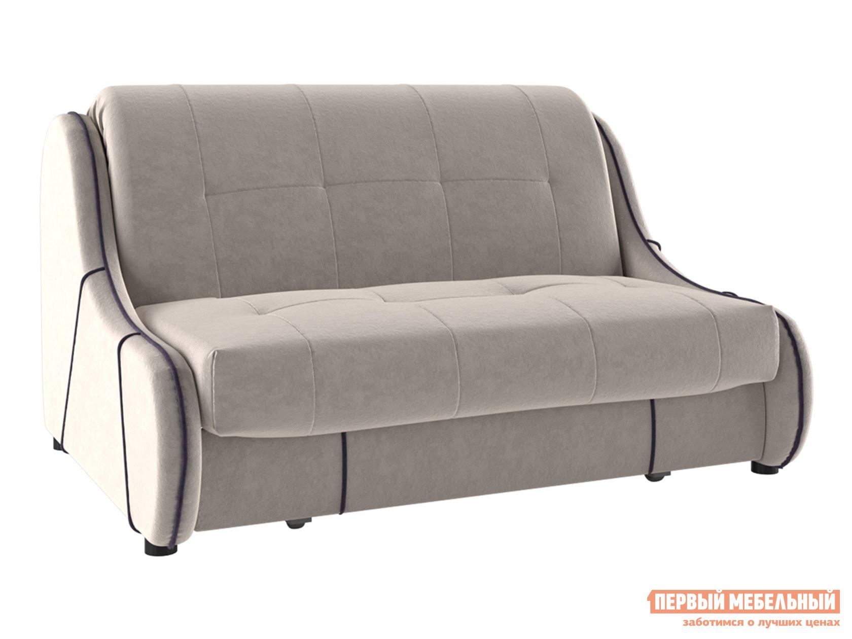 Прямой диван Диван Кельвин Люкс Пепельно-розовый, флок, 160х200 см фото