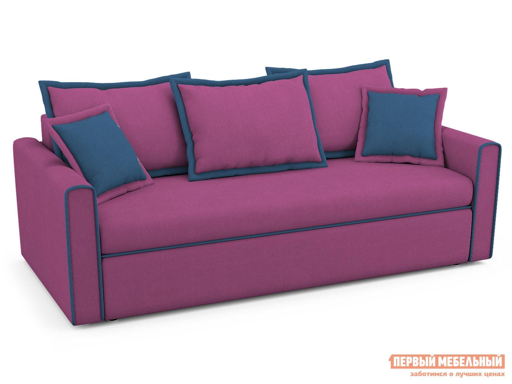 Прямой диван  Прямой диван Франсуа Пурпурный, рогожка