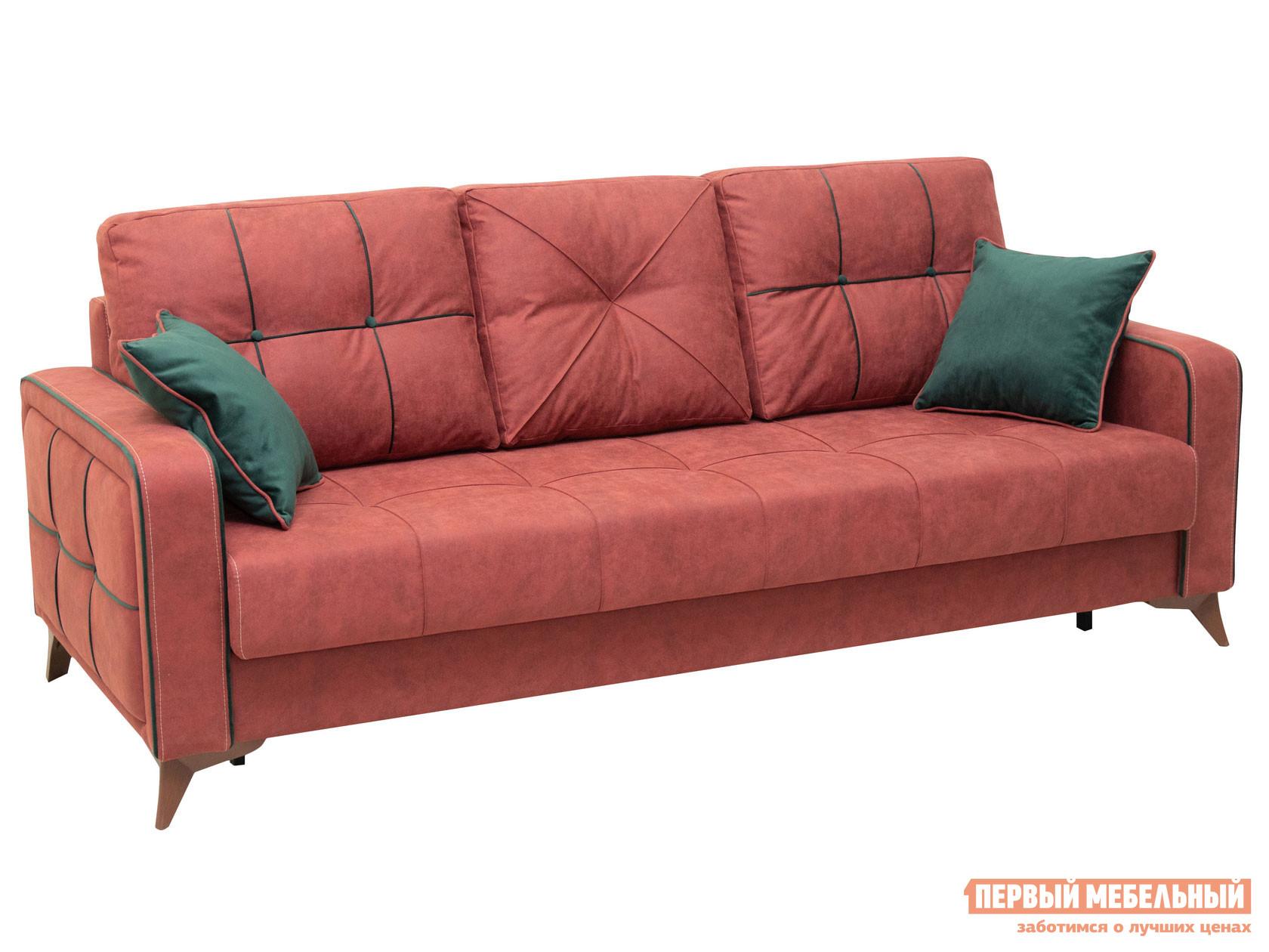Прямой диван  Черри диван-кровать Красный, искусственная замша — Черри диван-кровать Красный, искусственная замша