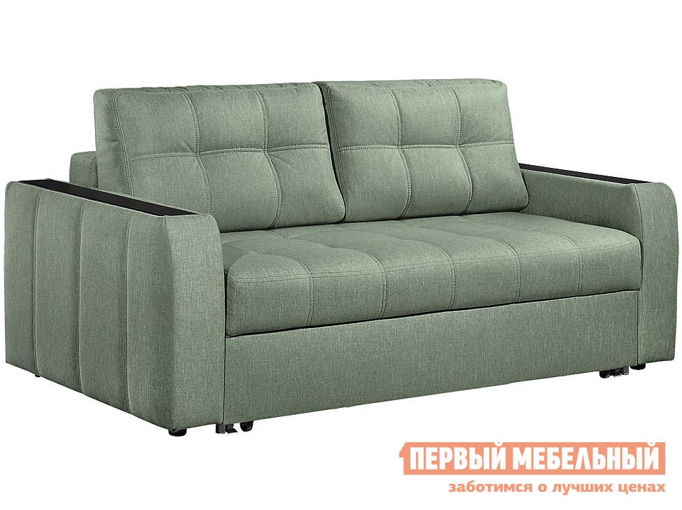 Прямой диван  Диван Бани 2 Зеленый, рогожка