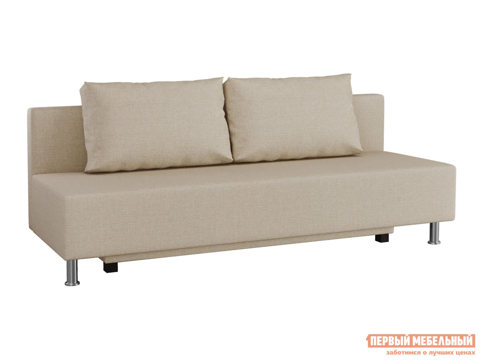 Прямой диван  Пари Бежевый, рогожка Мягкая Линия 130891