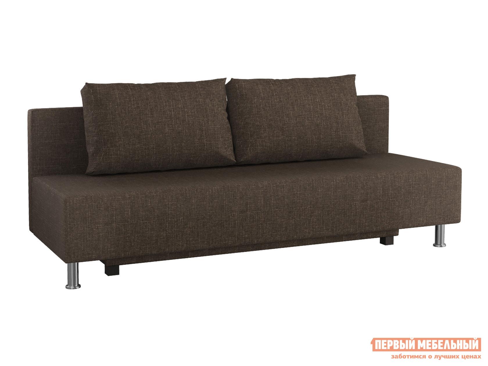 Прямой диван  Пари Коричневый, рогожка Мягкая Линия 130889