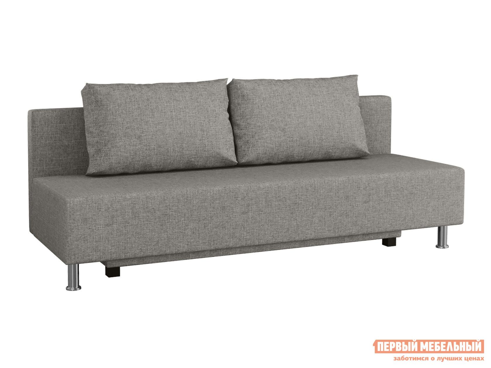 Прямой диван  Пари Серый, рогожка Мягкая Линия 130890