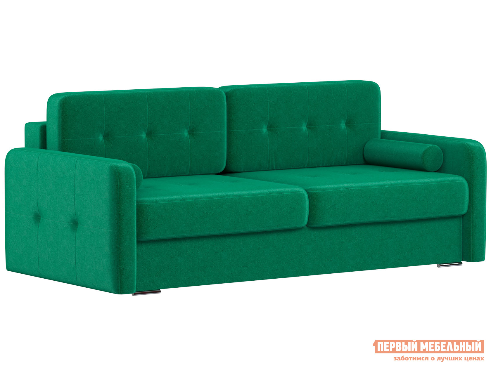 Прямой диван  Диван Буено Люкс Зеленый, велюр — Диван Буено Люкс Зеленый, велюр