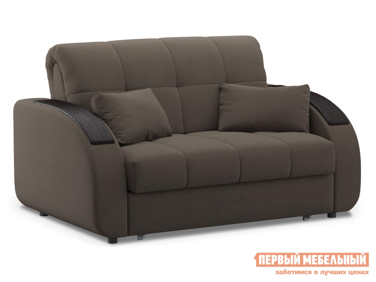 Прямой диван  Уильям / Люкс Коричневый, велюр, 120х200 см, Независимый пружинный блок Живые диваны 100646