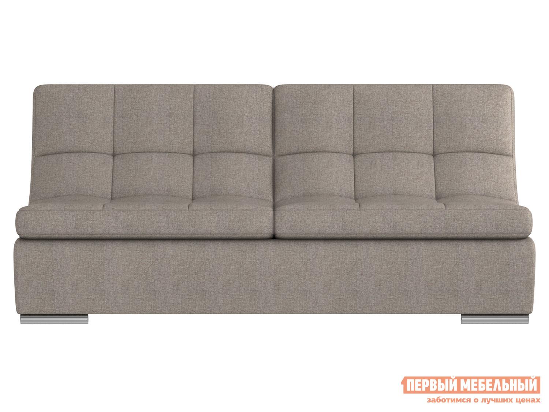 Прямой диван  Сан-Диего Серо-бежевый, рогожка Мягкая Линия 75418