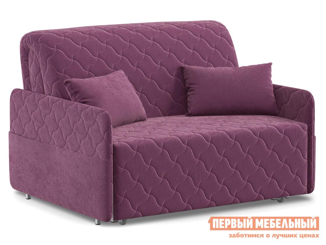 Прямой диван  Тино / Люкс Фиолетовый, велюр, 120х200 см, Независимый пружинный блок Живые диваны 126820