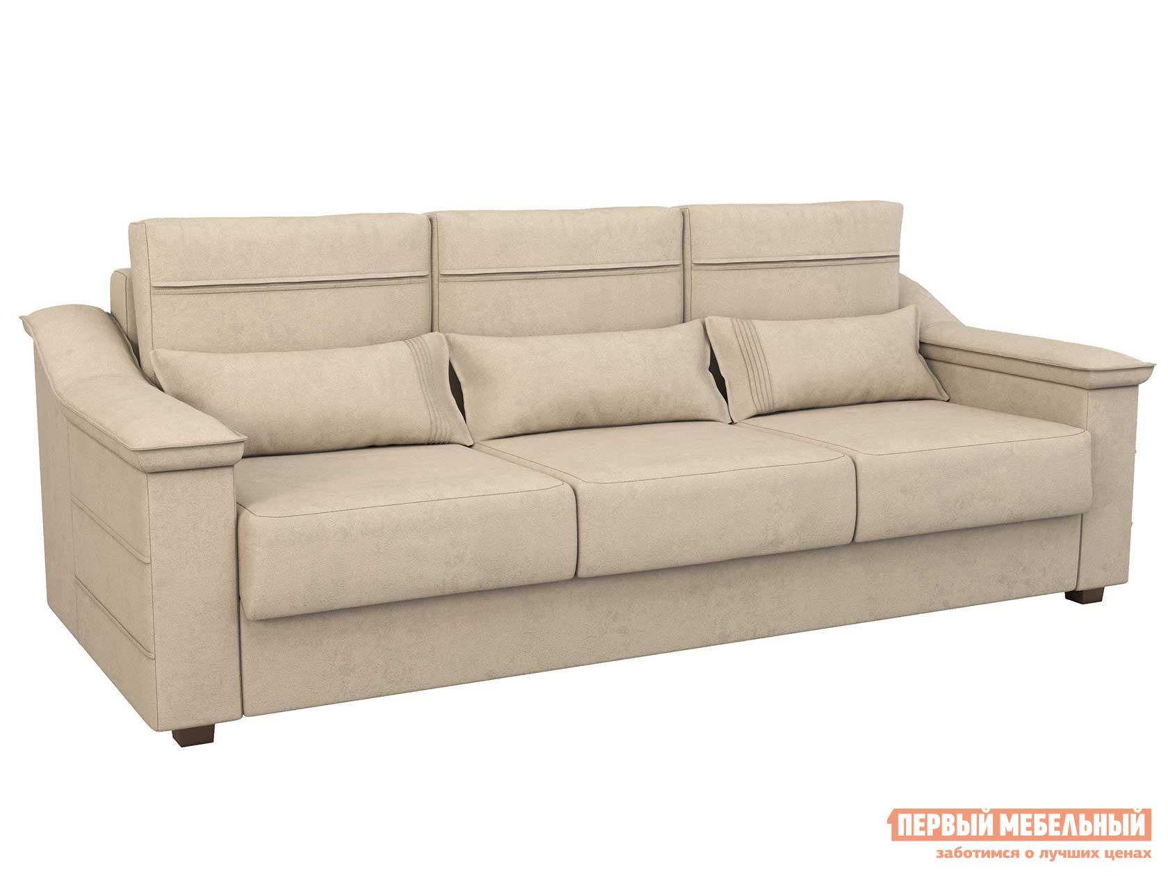 Прямой диван  Холидей Люкс Бежевый, рогожка НижегородмебельИК 98768