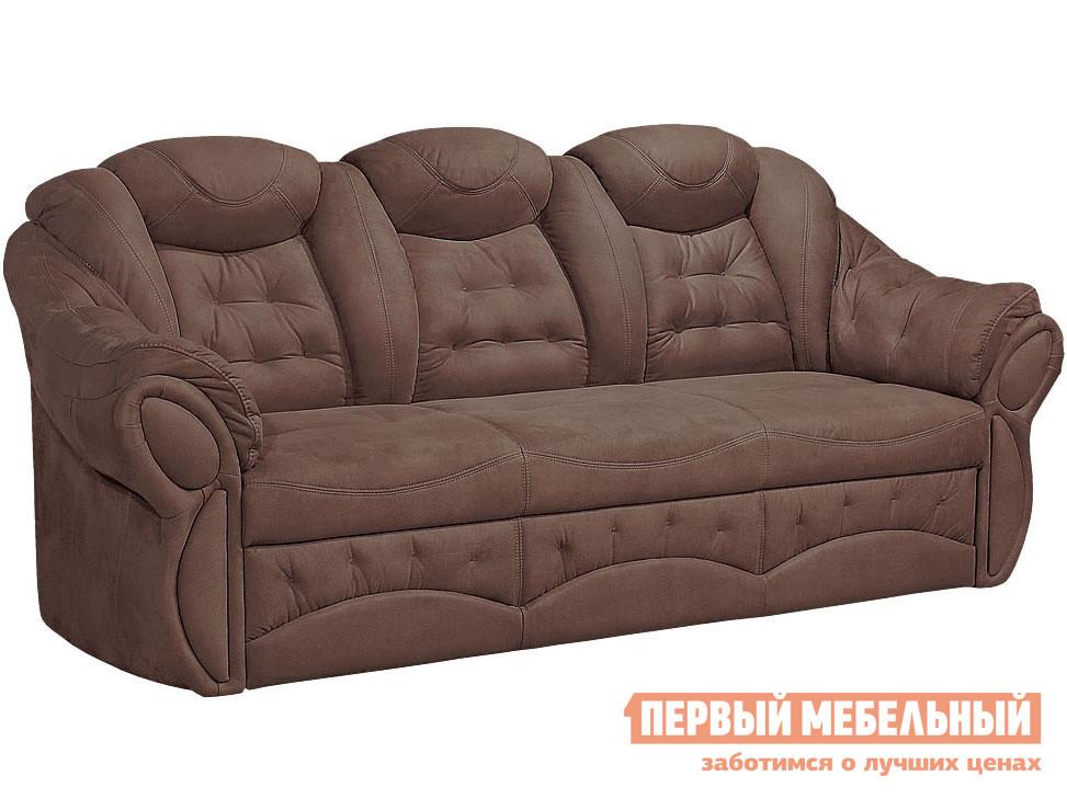 Прямой диван  Маркус 3 Люкс Шоколад, искусственная замша Элегия 103389