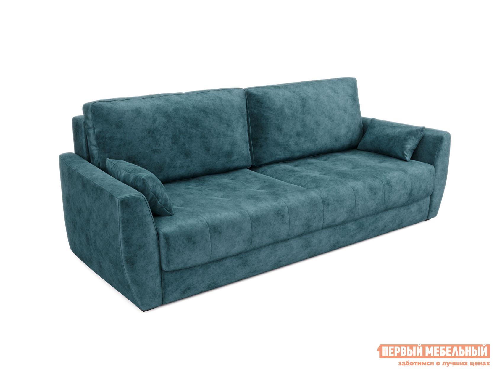 Прямой диван  Тиволи Люкс Мята, велюр Пиррогрупп 93618