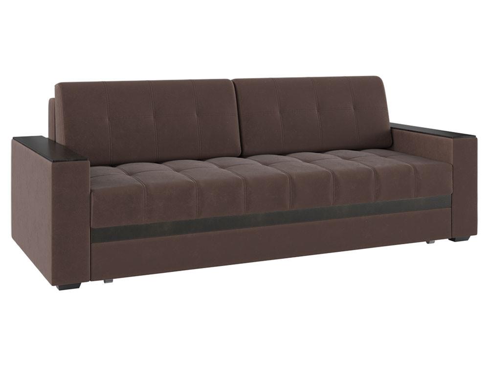 Прямой диван  Виргиния Люкс Шоколад, велюр Пиррогрупп 117167