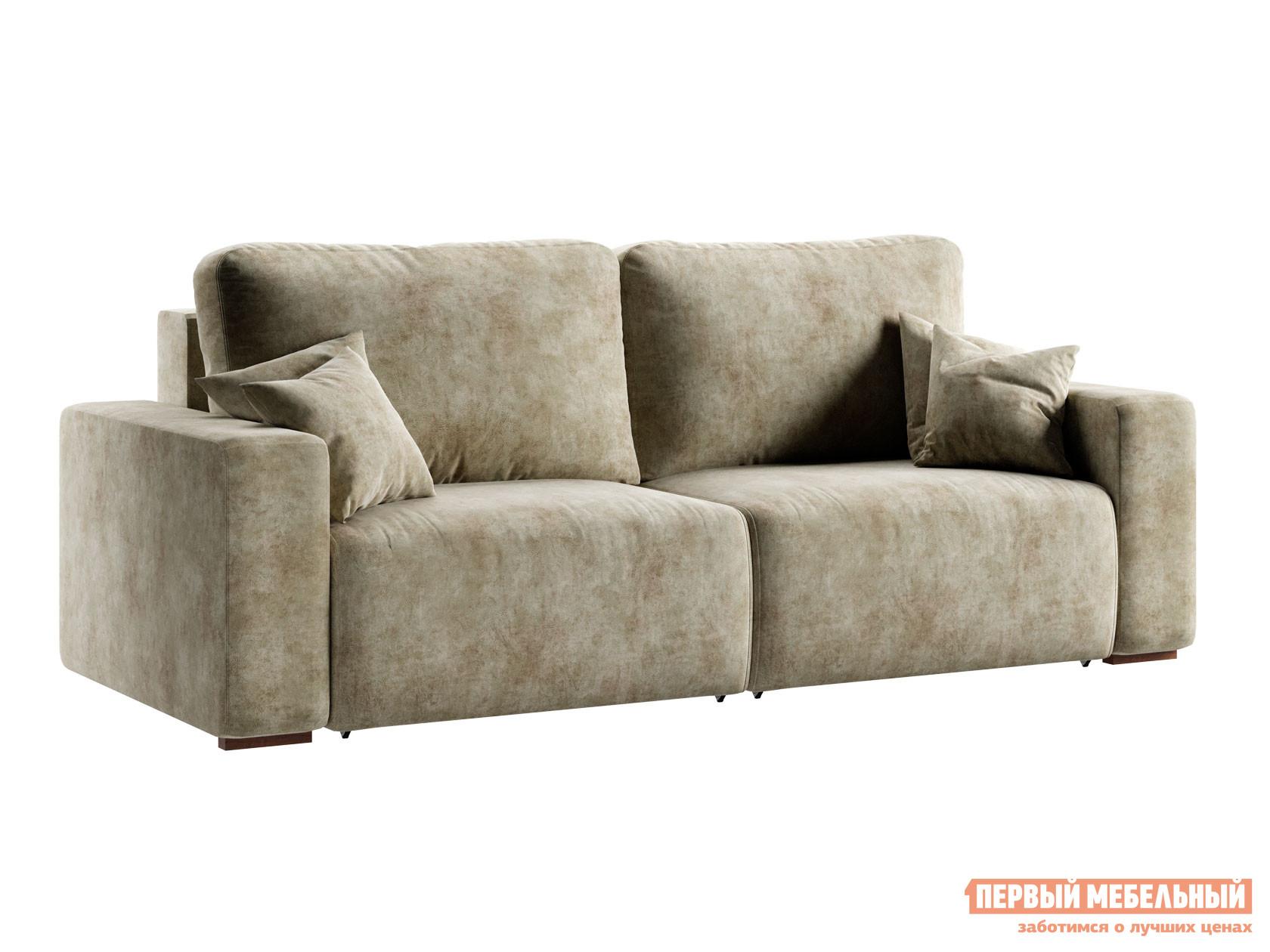 Прямой диван  Пуэрто Кремовый, велюр Пиррогрупп 119718