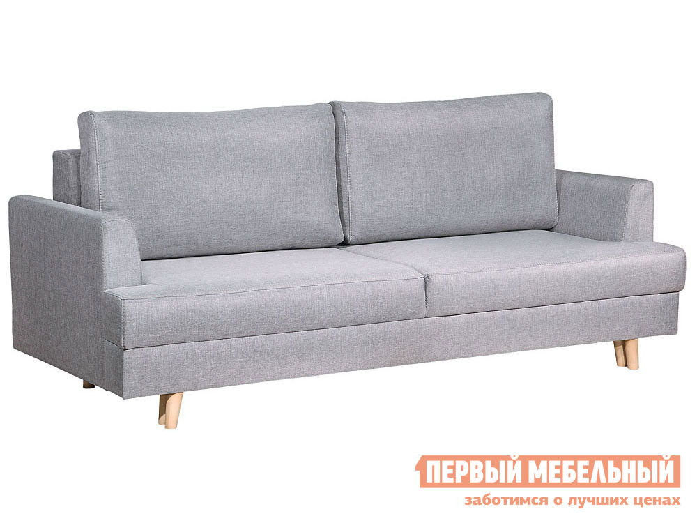 Прямой диван  Диван Кевин Люкс Светло-серый, рогожка