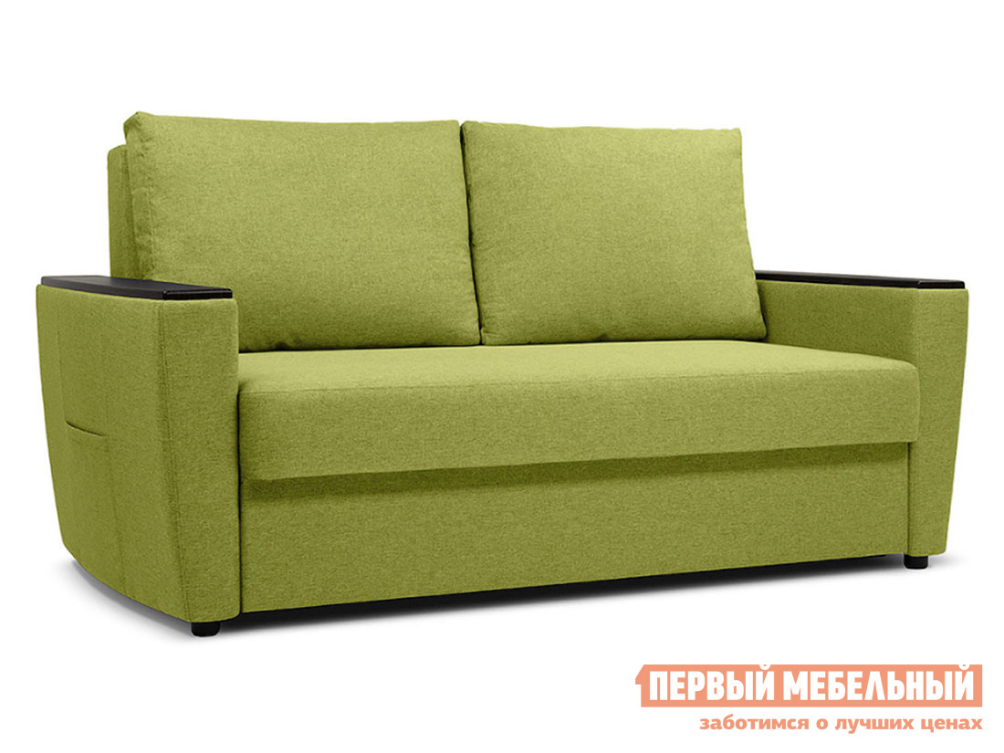 Прямой диван  Майами Салатовый, рогожка — Майами Салатовый, рогожка