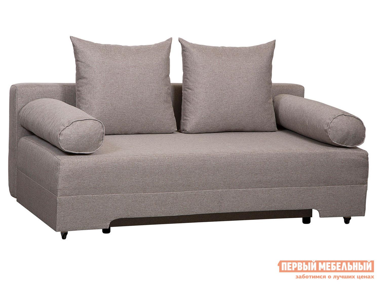 Прямой диван Челси Серо-бежевый, рогожка фото