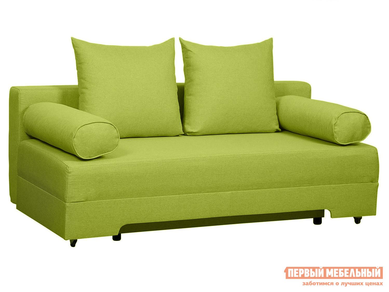 Прямой диван  Челси Салатовый, рогожка