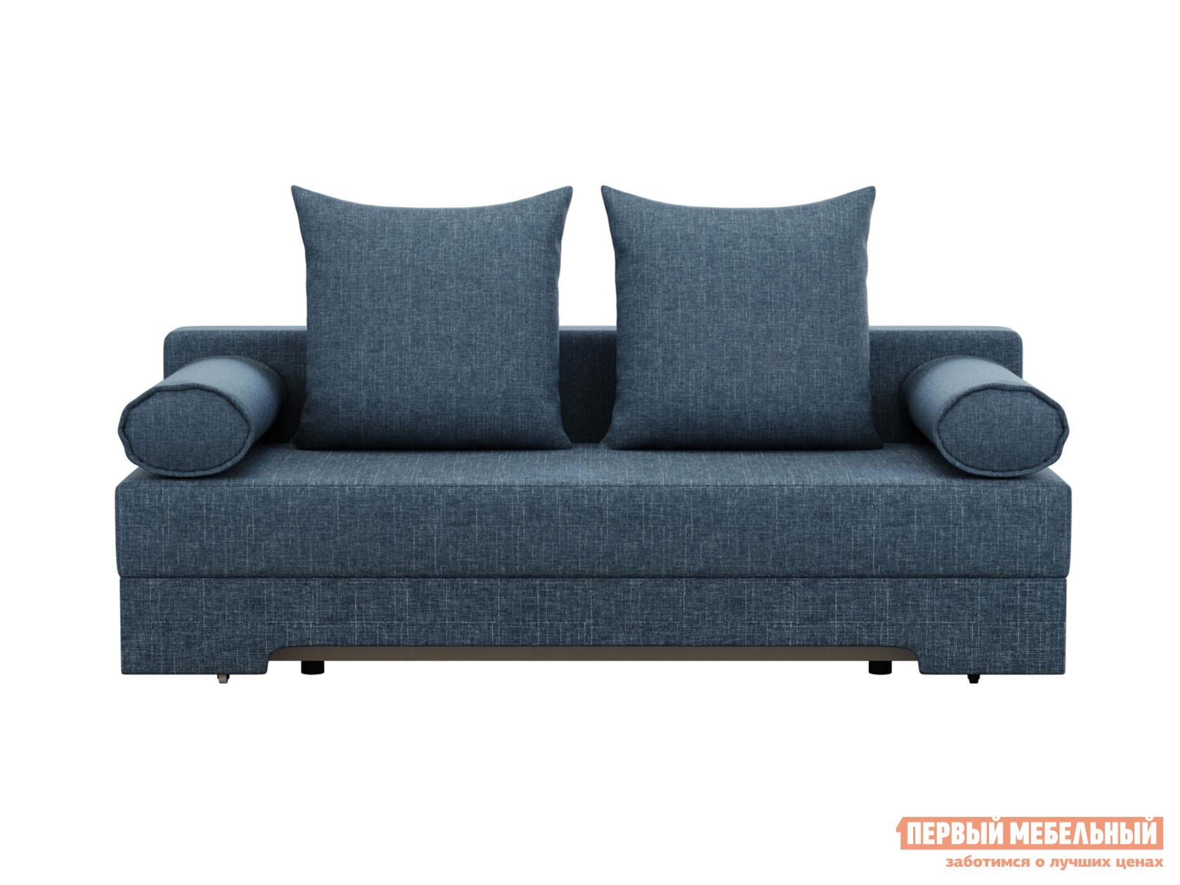 Прямой диван  Челси Синий, рогожка Мягкая Линия 130888