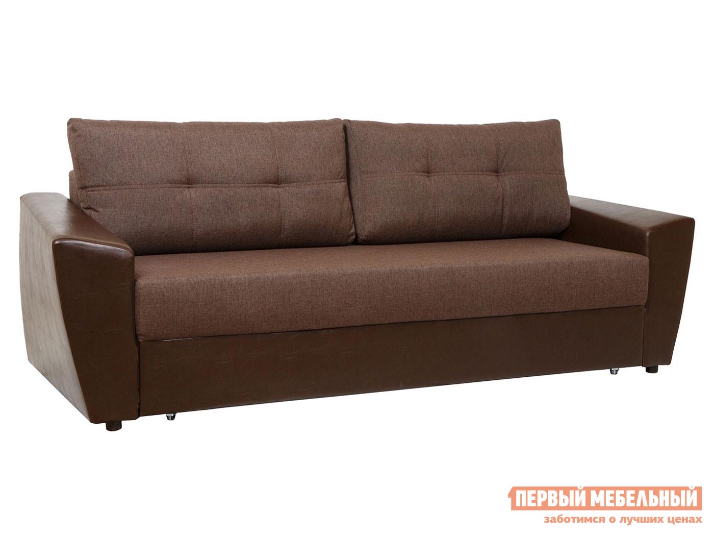 Прямой диван Амстердам Кофейный, рогожка фото