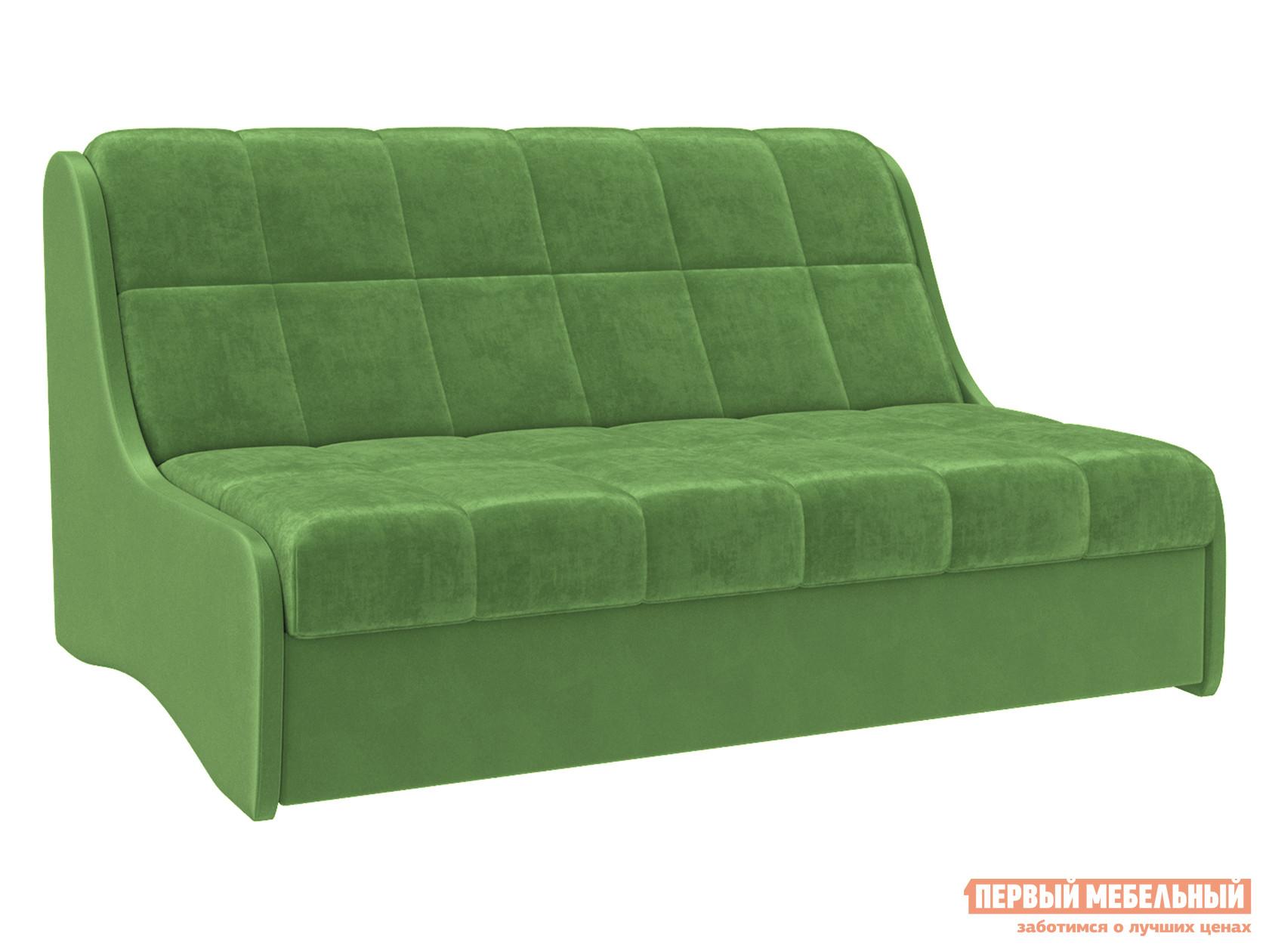 Прямой диван  Диван Токио Зеленый, велюр, 120х200 см, Независимый пружинный блок — Диван Токио Зеленый, велюр, 120х200 см, Независимый пружинный блок