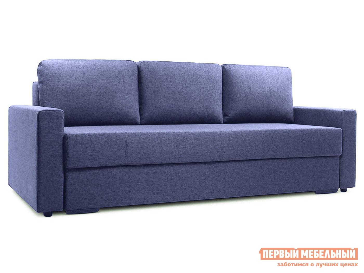 Прямой диван  Фишер Синий, рогожка