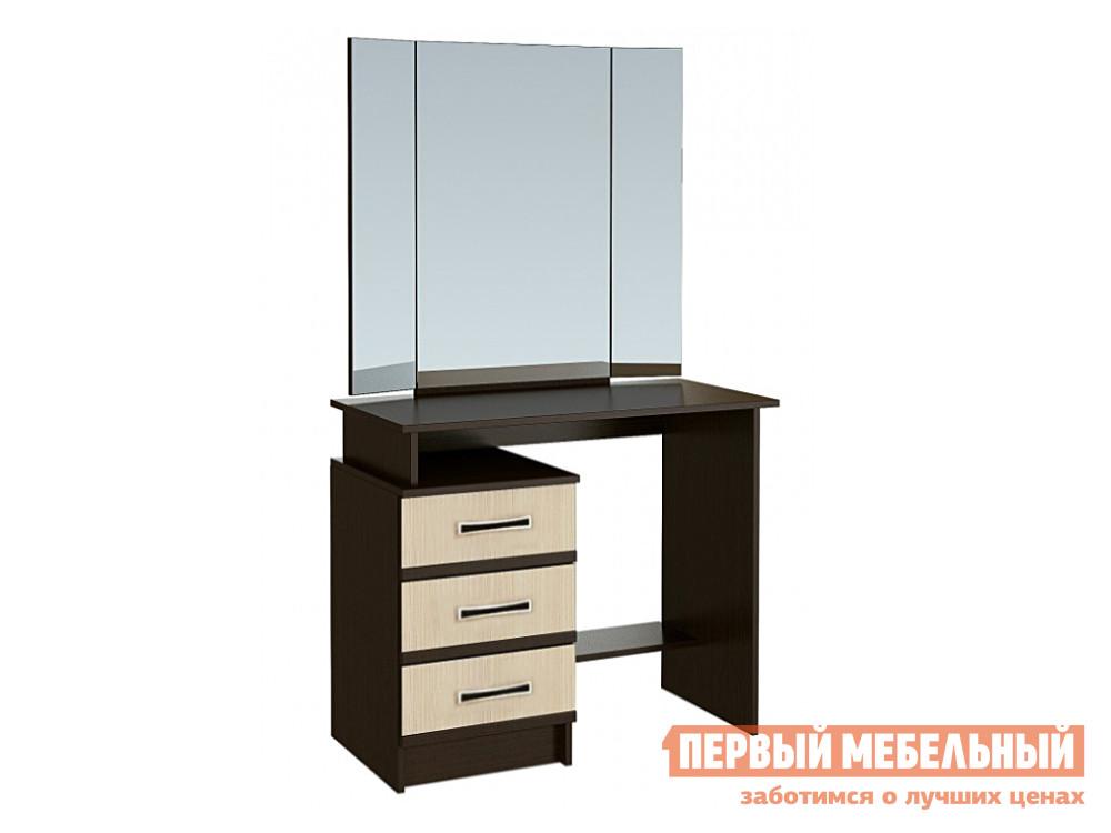 Туалетный столик с зеркалом Первый Мебельный Стол туалетный с зеркалом Сакура